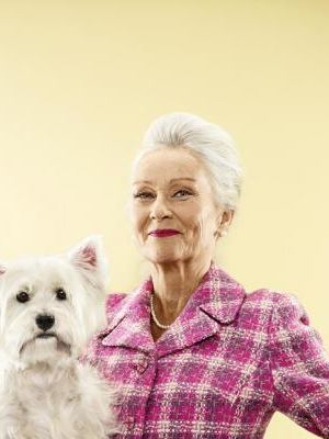 2012 Elegant lady with dog · By: Maak Roberts
