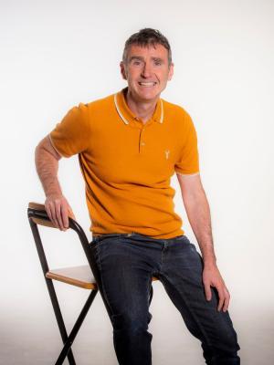David Cruickshanks relaxed body shot sitting