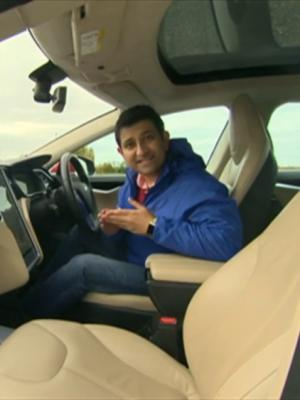 Electric Car Piece to Camera screengrab