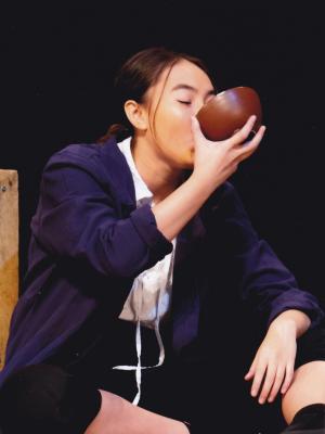 Lara Harris as Tom in Treasure Island