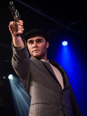 As Leon Czolgosz in ASSASSINS, Pick Me Up Theatre