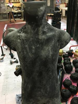 2018 Painted Stone Statue · By: Dale Gibb