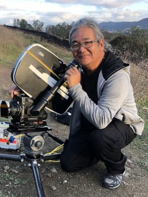 2019 CRL with Arri III 35mm film camera on set, Dec 2019 · By: Chris Ross Leong