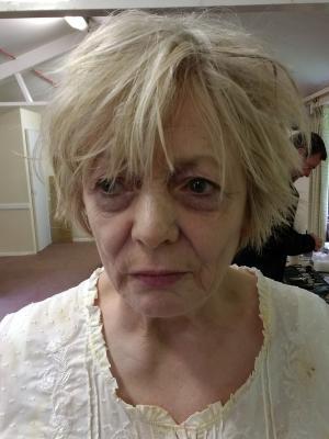 Alison Steadman Blood Poison FX makeup complexion
