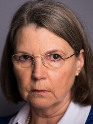Angela White - serious expression headshot