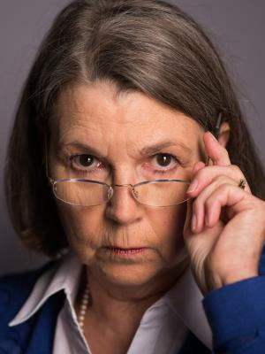 Angela White - stern dismissive headshot