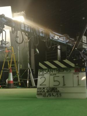 """Break during the """"Misanthropos"""" shoot, where I worked as DoP and Associate Producer."""