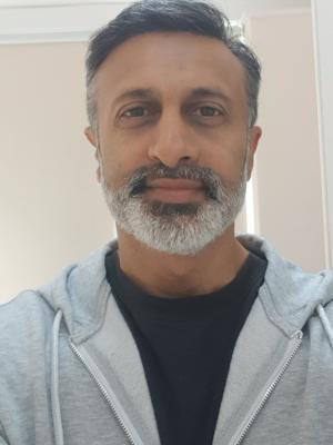 2020 Lockdown selfie · By: Sandeep Mohan