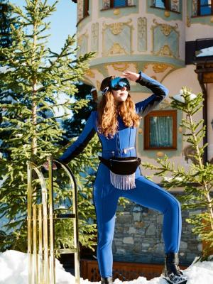 2020 Photoshoot for Bernard Orcel Boutique in Les Airelles hotel, Courchevel featuring Bogner ski wear · By: Yulia Lebedeva