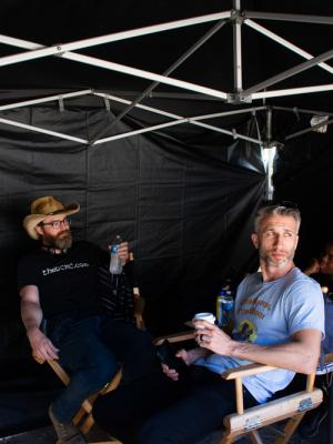Director Shane Cibella on the set of '2 Timers'