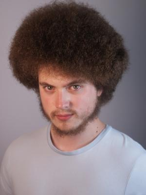 2020 Recent Headshot with Afro