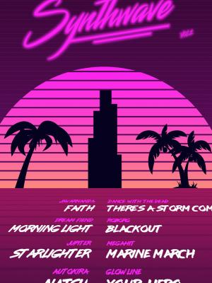 Synthwave Compilation Back Cover