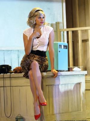 Georgina White as Audrey in Little Shop of Horrors