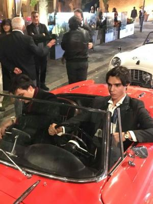 Arriving at Festival of Cinema in Rome