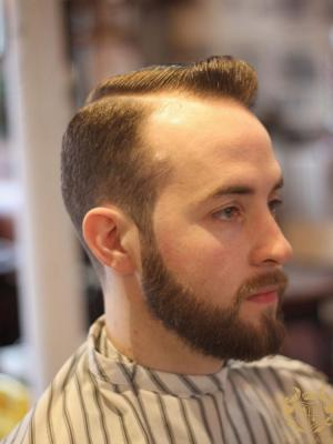 Promotional modelling shoot for a Barbers