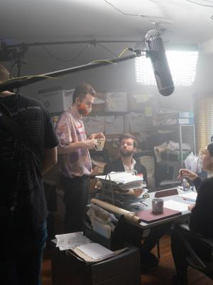 Directing on Set for 'Can't Stop Me'