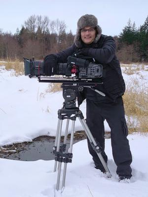With my Sony FX9 and 50-1000mm ultimate Zoom on winter documentary