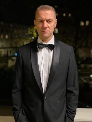 Crispin Holland - dinner suit (on set)