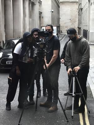 On location shoot