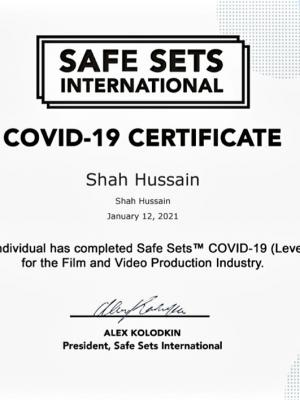 Safe Sets International Covid-19 Certificate