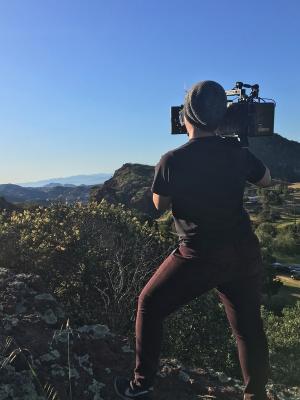 Sunset on Set