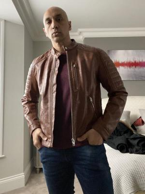 2020 Tommy - ASOS Brown leather jacket