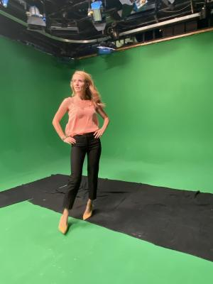 2020 In Broadley Studios Green Screen · By: Lucia France