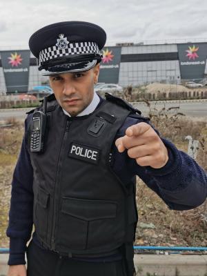 Officers look