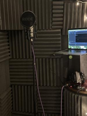 2021 Inside my home studio booth · By: Alix Perry