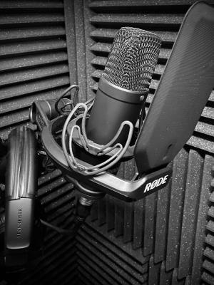 Home studio | RØDE N1 microphone | AI-1 Audio interface | Acoustically treated studio
