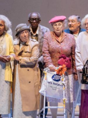 "2016 Alan Bennett's 'Allelujah"" The Bridge Theatre, London Theatre Company · By: Lee-Ellen Wilson"