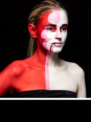 2020 Abstract Full body Makeup · By: Michael Ching