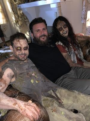 2019 John Human, with his Unimas Promo Zombies · By: Human Productions