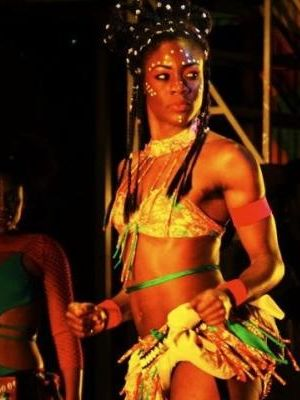 Queen Adejonwo in the Tony Award musical Fela! on Broadway