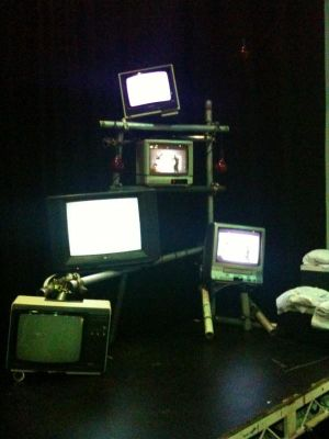 Old TV's in sync (or not) with Video Opera Three Tales · By: Richard Hillier