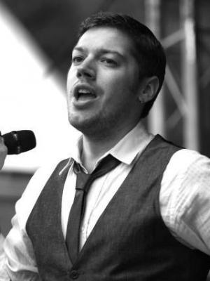 Performing solo vocal concert