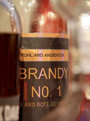 Brandy Label for Deathtrap created by Chariya Glasse-Davies · By: Lance Fuller Astigmatism productions
