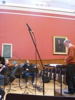 Conducting Recording Session at Edinburgh University · By: Harry Whalley