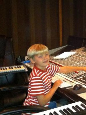2013 Max at a recording studio · By: Maria Clifton