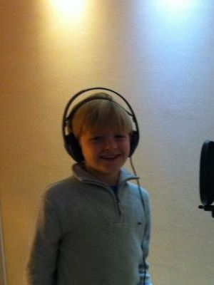 2013 Max doing voice over · By: Maria Clifton