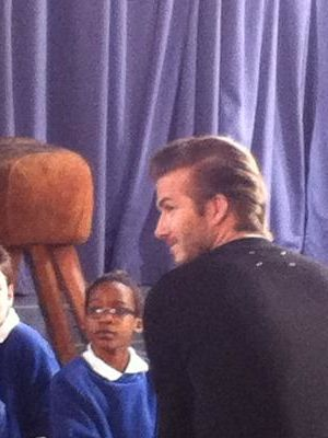 2013 Max on set with David Beckham · By: Maria Clifton