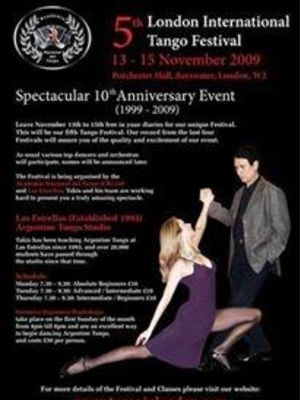 2009 Advert for the London Tango Festival · By: Robson