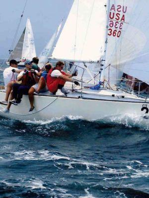 Sailboat racing in Newport, RI · By: Dana Rogers