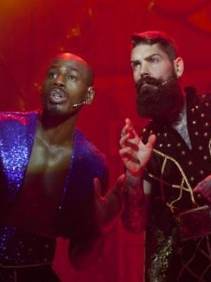Aladdin with BEN Ofuedu ( phat and small ) and SHANE lynch ( boyzone ) · By: gravesend