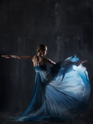 2015 Contemporary blue dress · By: Phil Payne