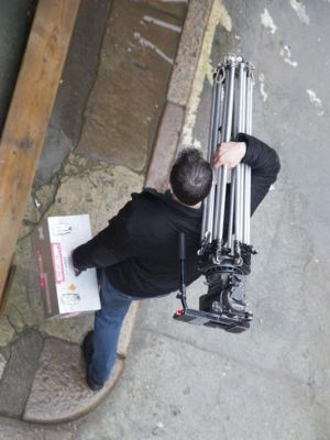 2014 Carrying Tripod (On the set of Shadows) · By: Jamie Montgomery