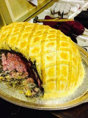 Fake Spam En Croute for Betty Blue Eyes · By: Tracey Booth
