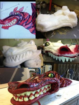 Large sewer monster puppet for Panto · By: Tracey Booth