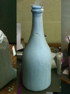 Poly carved bottle for Panto · By: Tracey Booth