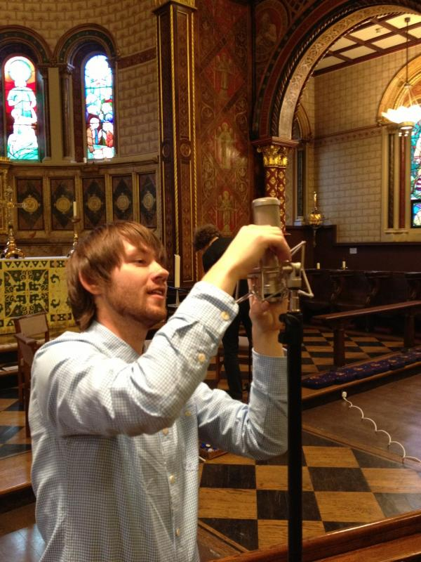 Recording session with Madeleine string quartet at King's College chapel